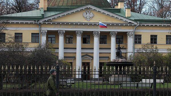 Здание Военно-медицинской академии в центре Петербурга. Архив