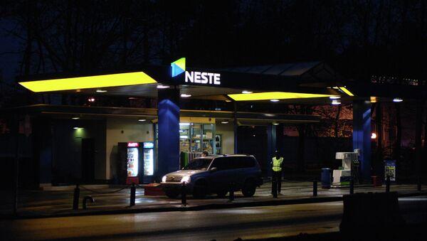 АЗС компании Neste в Санкт-Петербурге. Архивное фото.