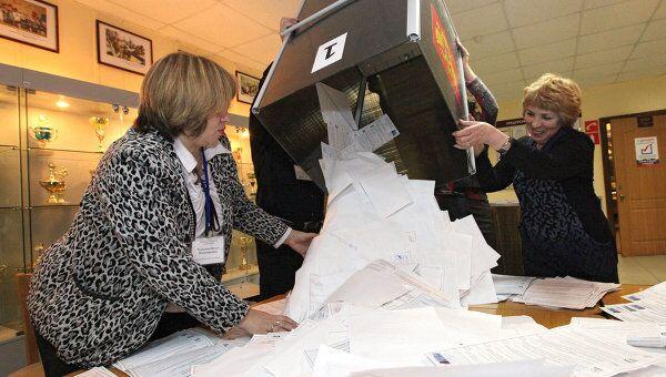 Подсчет голосов на выборах. Архив