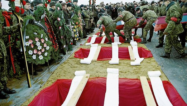 Похороны воинов-десантников в Пскове