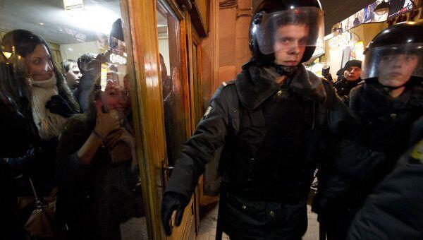Несанкционированная акция на Триумфальной площади