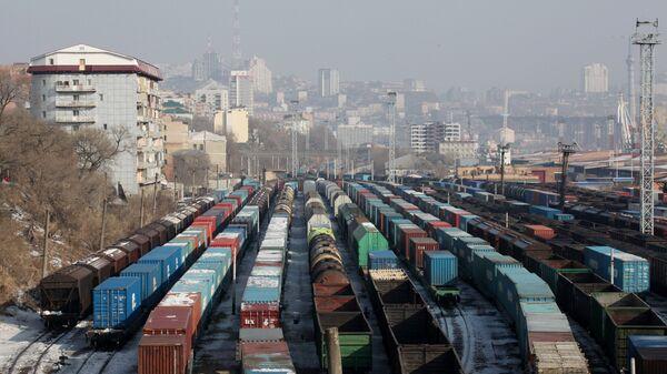 Железнодорожное депо города Владивостока