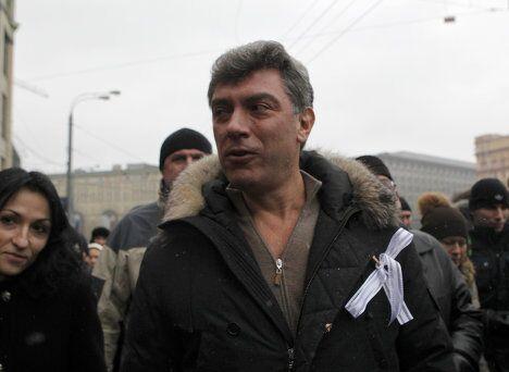 Борис Немцов на митинге За честные выборы в Москве