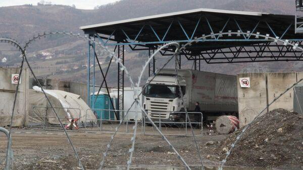 КПП на границе Косово