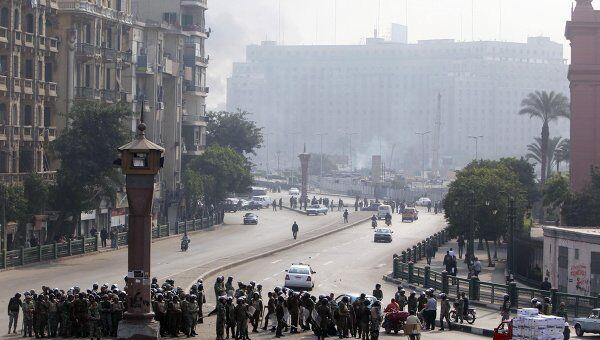 Беспорядки на площади Тахрир в Каире 17 декабря 2011 года, архивное фото