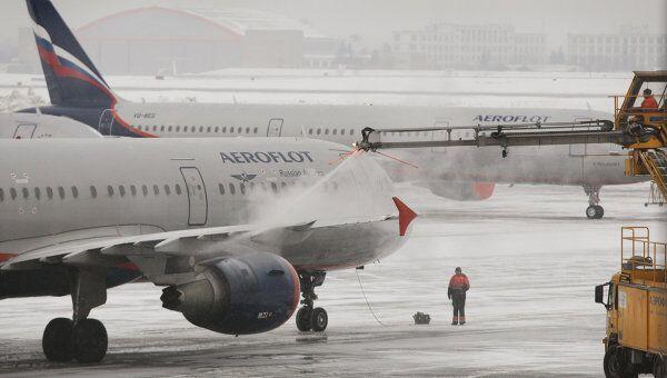 Аэробус А-321 авиакомпании Аэрофлот в аэропорту Шереметьево