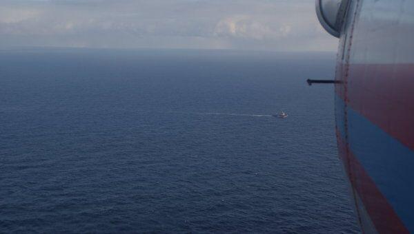 Район гибели буровой платформы Кольской в Охотском море