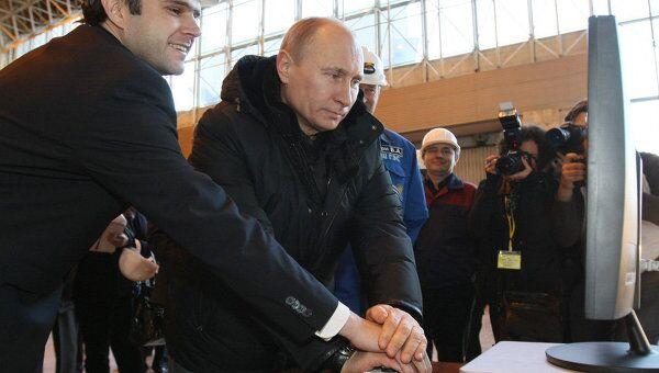 Путин запустил новый гидроагрегат Саяно-Шушенской ГЭС