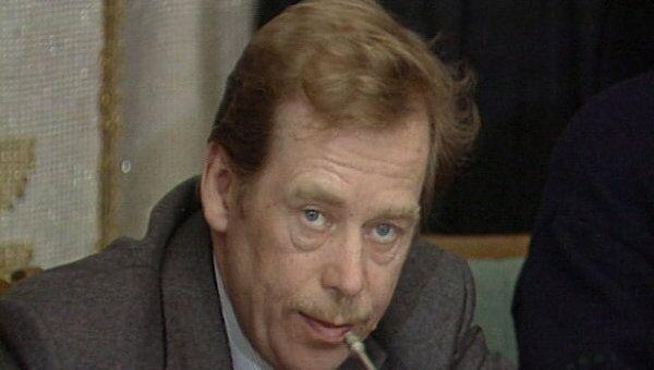 Вацлав Гавел - писатель, диссидент, президент. Архивные кадры