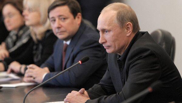Рабочая поездка Владимира Путина в Гудермес