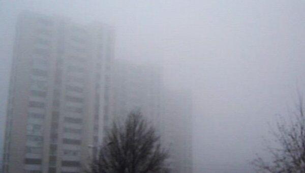Белгород укутал густой туман