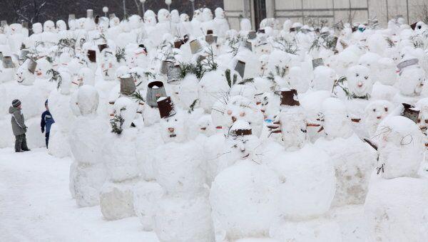 Парад снеговиков. Архив