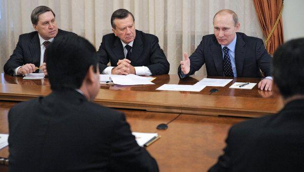Встреча Владимира Путина с Гурбангулы Бердымухамедовым