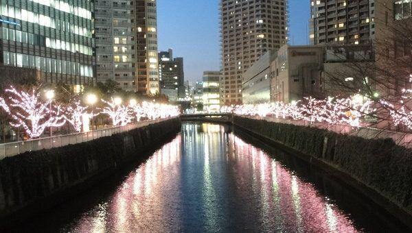 Иллюминация в Токио. Архивное фото