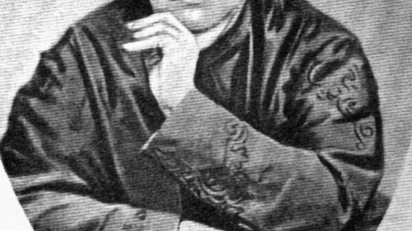 Русская писательница и теософ Елена Петровна Блаватская (1831-1891).