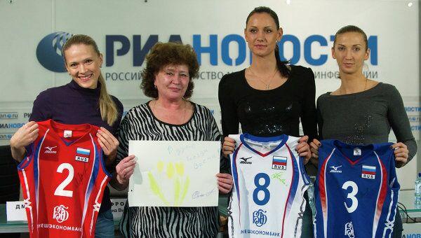 Леся Махно, Татьяна Вильеновна Сафронова, Наталия Гончарова и Мария Перепелкина (слева направо)
