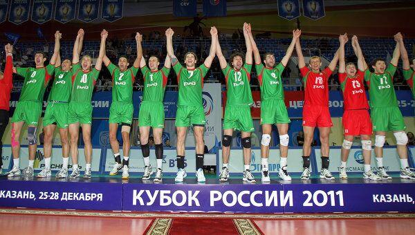 Волейболисты новосибирского Локомотива