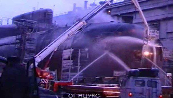 Работа пожарных на тушении АПЛ Екатеринбург. Архивное фото