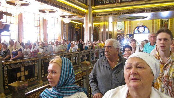 Верующие из РФ отметили Рождество в храме Шарм-эш-Шейха в Египте