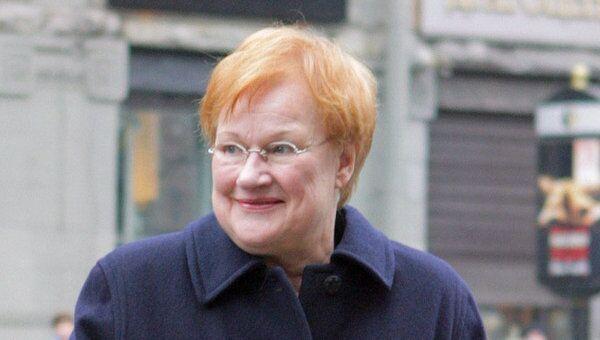 Президент Финляндии Тарья Халонен. Архив