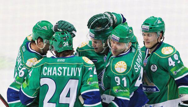 Хоккеисты ХК Салават Юлаев
