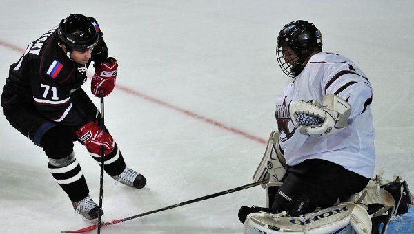 Встреча легенд латвийского и российского хоккея