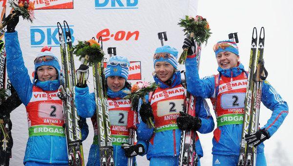 Российские биатлонистки