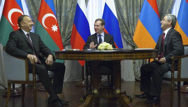 Президенты Д.Медведев, С.Саргсян и И.Алиев встретились в Сочи