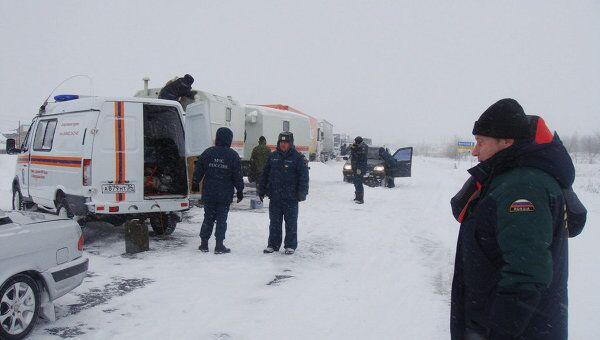 Заснеженная трасса Волгоград-Саратов