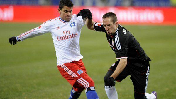Игровой момент матча Бавария - Гамбург
