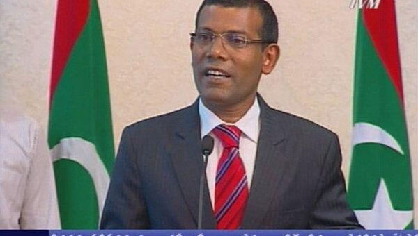 Выступление президента Мальдив Мохамеда Нашида 7 февраля 2012г.