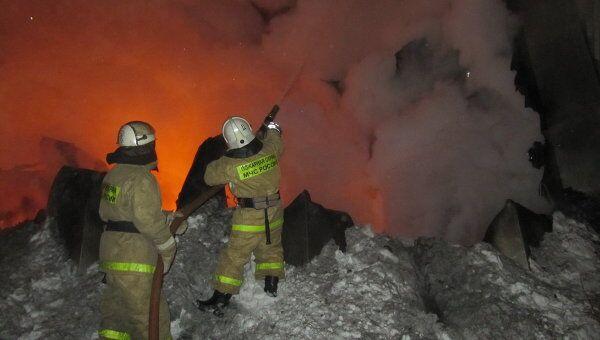 Пожар в аэропорту Кызыла