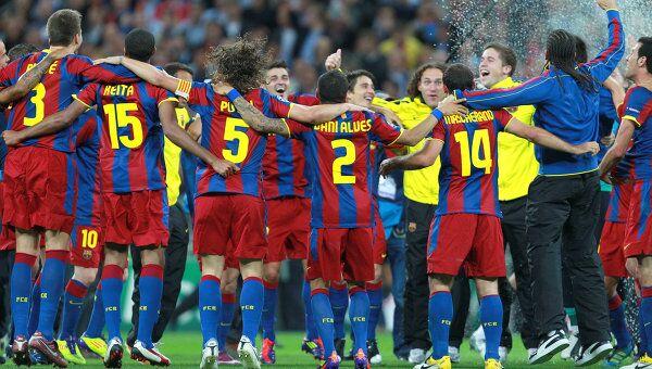 Футболисты Барселоны, архивное фото