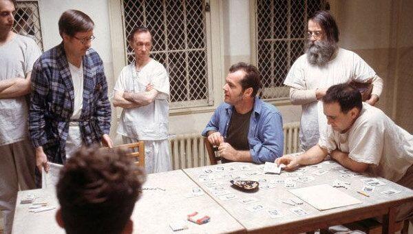 Кадр из фильма Пролетая над гнездом кукушки, 1975. Архивное фото