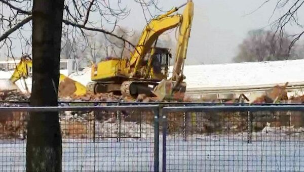 На севере Москвы продолжается снос стадиона Динамо