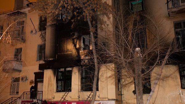 Последствия взрыва газового баллона в кафе Белладжио в Волгограде. Архивное фото