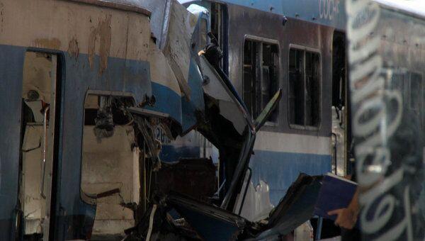 Железнодорожная авария на станции Once в центре Буэнос-Айреса