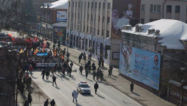 Шествие За честные выборы в Томске