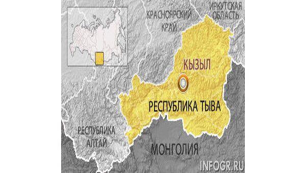 Республика Тува. Карта