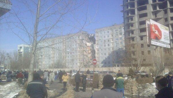 Обрушение жилого дома в Астрахани