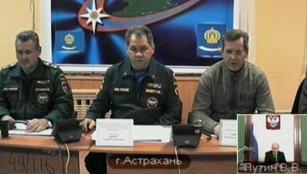 Шойгу доложил Путину о ходе работ на месте обрушения дома в Астрахани