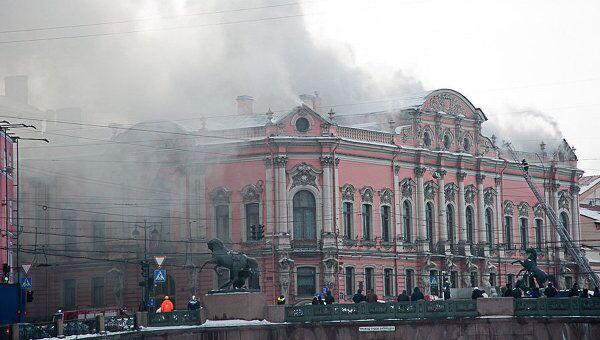 Петербург пожар дворец тушение