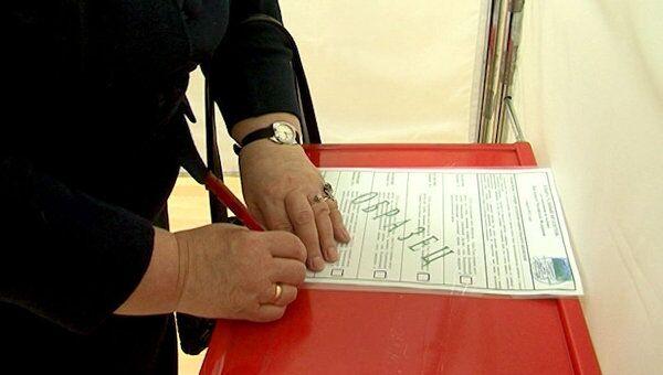 В Центризбиркоме показали, как должно проходить голосование незрячих