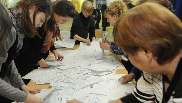 Подсчет голосов по выборам президента РФ в Чите