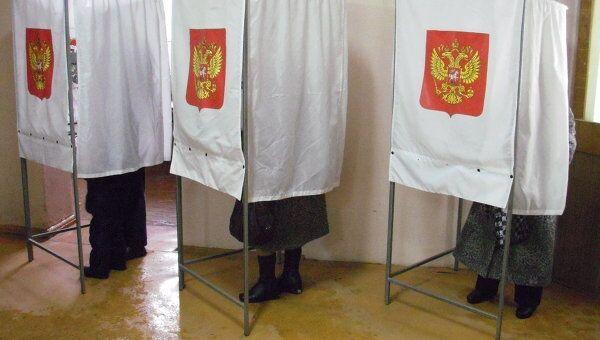 Голосование на избирательном участке в Смоленске