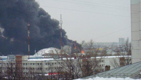 Пожар на юго-востоке Москвы