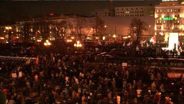 Митинг За честные выборы на Пушкинской площади