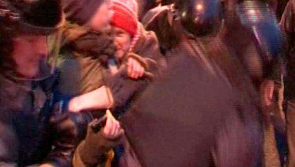 Полиция задержала участников несанкционированной акции на Лубянке