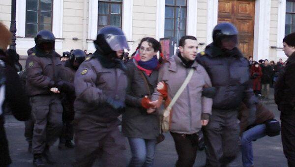 Полиция Петербурга пресекла несанкционированную акцию
