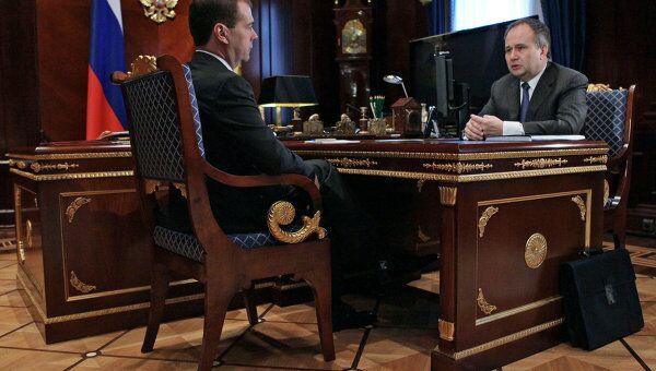 Президент РФ Д.Медведев встретился с губернатором Пермского края О.Чиркуновым